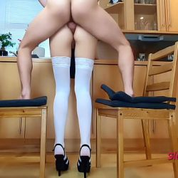 Hot Anal in the kitchen, standing fuck