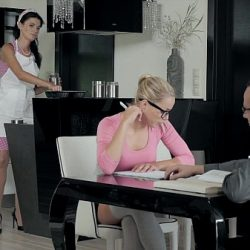 Babes – A Tasty Distraction, sexy threesome