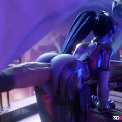 Big Ass Girl Fucked by a Huge Monster Cock