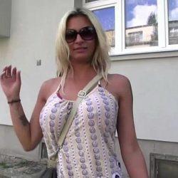 Busty blonde Clarisa gets fucked outdoor